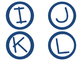 Word Wall/Book Bin Labels - {Preppy Nautical Theme}