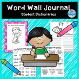 Back to school Word Wall Book / Student Dictionary / Word