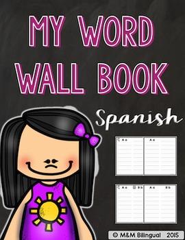 Word Wall Book {SPANISH}