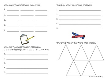 Word Wall Booklet