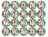 Word Wall Bottle Cap Circles - FREE