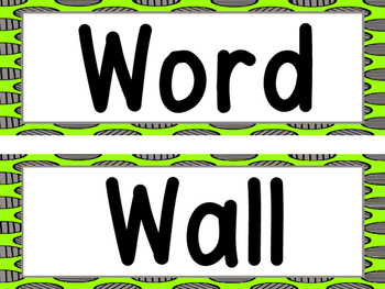 Word Wall -Bright Green With Gray Dots and 200 Fry Words