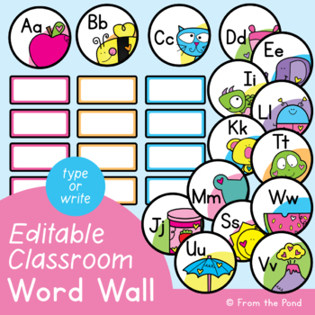 Word Wall {Bright Word Wall Headers and Cards Pages}