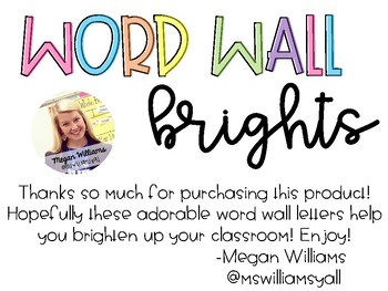 Word Wall Brights