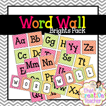Word Wall (Brights Pack)