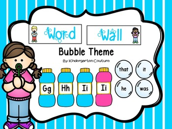 Word Wall -Bubble Theme
