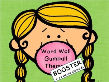 Word Wall Bubblegum BOOSTER
