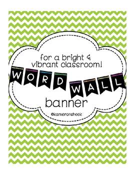 Word Wall Bulletin Board Banner