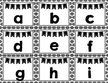 Word Wall - Bulletin Board Letters - black and white polka dot- cute