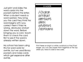 Word Wall Bulletin Board (fits Target adhesive pockets)