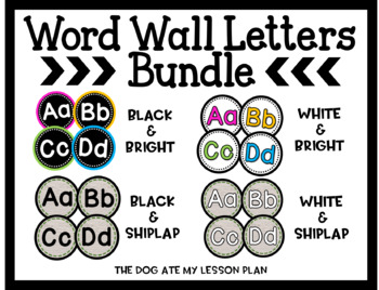 Word Wall Bundle (Bold, Bright & Shiplap)