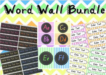 Word Wall Bundle {Editable}