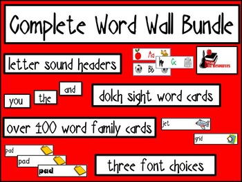 Word Wall Bundle - Headers, Sight Words, Word Families and More