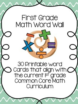Common Core Math Word Wall K-2