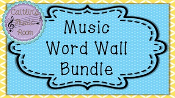 Music Word Wall Bundle (Purple Background)