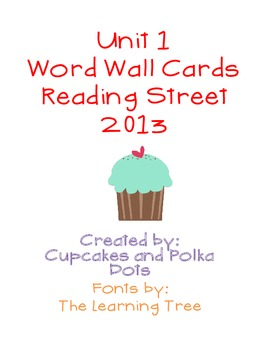 Word Wall Bundle- Reading Street Unit 1