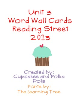 Word Wall Bundle- Reading Street Unit 3