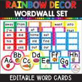 Word Wall Bundle with heading label, variety of headers, 100+ words {editable}