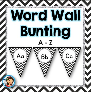 Word Wall Headers (Black Chevron)