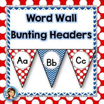 Word Wall Headers (red and blue)