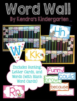Word Wall (Bunting, Letter Cards, and Words)