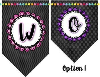 Word Wall Bunting/Banner and Letter Labels