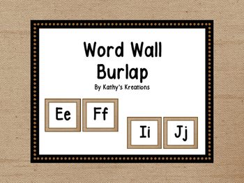 Word Wall - Burlap (Dollar Deal)