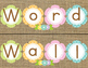 Word Wall-Burlap, Floral and Pastel