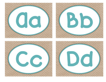 Word Wall - Burlap, Teal, and Shabby Chic Themed
