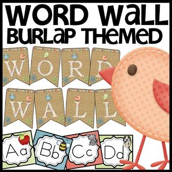 Word Wall (Burlap and Birdie)