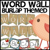 Word Wall (Burlap and Birdie)