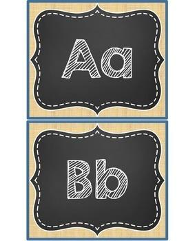 Word Wall - Burlap and Chalkboard Theme - Sight Words {Editable}
