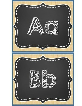 Word Wall - Burlap and Chalkboard Theme - Sight Words {Editable}