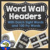 Dolch Sight Words Burlap and Chalkboard Word Wall {Editabl