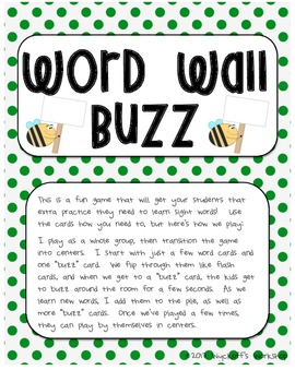Word Wall Buzz
