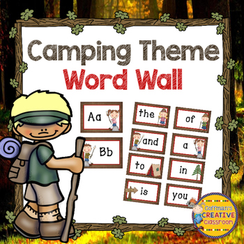 Word Wall Camping Theme ~Editable~