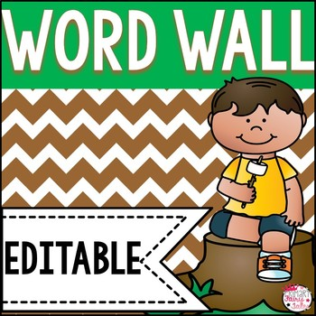 Camping Word Wall Cards