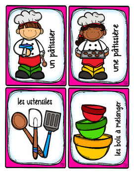 French Word Wall Card Collection - LA BOULANGERIE