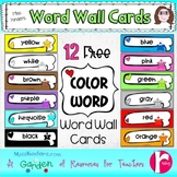 Word Wall Card Freebie Color Words
