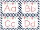 Word Wall Cards- Diagonal Stripes