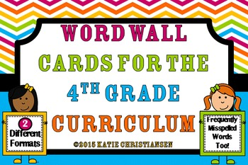 Word Wall Cards - 4th Grade