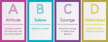 """Word Wall Cards - ABC's of Character - """"A to Z"""""""