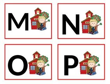 School House Word Wall Letters - Alphabet Flashcards