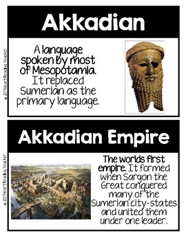 Word Wall Cards: Ancient Mesopotamia
