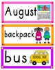Word Wall Cards {August}