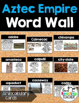 Word Wall Cards: Aztec Empire