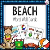 Word Wall Cards: Beach