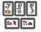 Word Wall Cards (Black Polka Dots) Editable