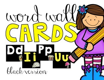 Word Wall Cards | Black Version