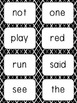 Word Wall Cards - Black & White